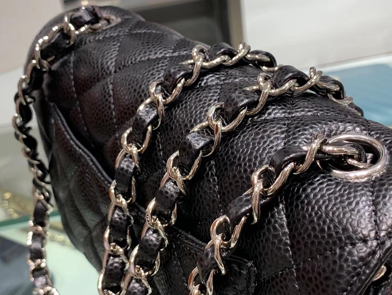 Chanel(香奈儿)cf jumbo 链条包 经典黑 银扣 银链 20cm