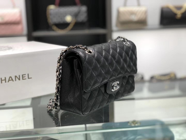 Chanel(香奈儿)cf jumbo 链条包 经典黑 银扣 银链 23cm