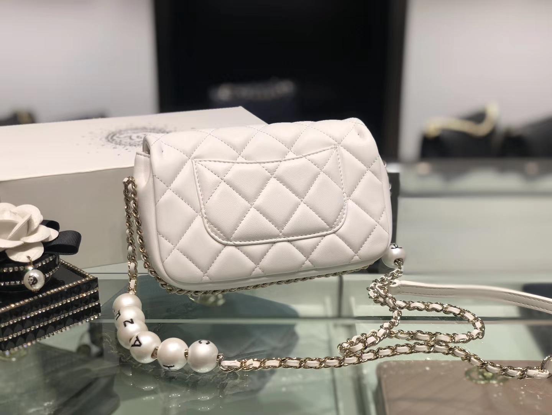 Chanel(香奈儿)2020 新款 珍珠包 超级仙女 长度可调节 白色 金扣
