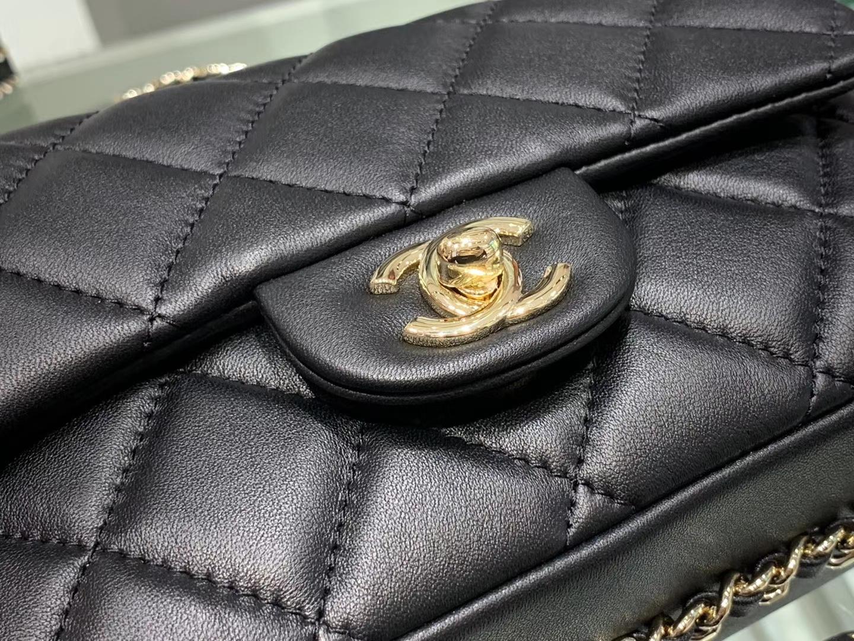 Chanel(香奈儿)2020 新款 珍珠包 超级仙女 长度可调节 黑色 金扣
