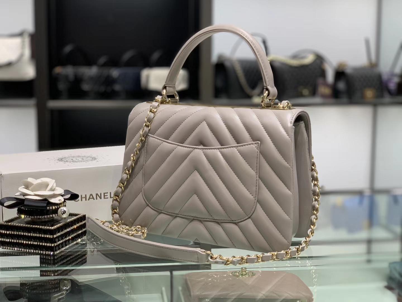 Chanel(香奈儿)Trendy cc 风衣灰 V纹 25cm