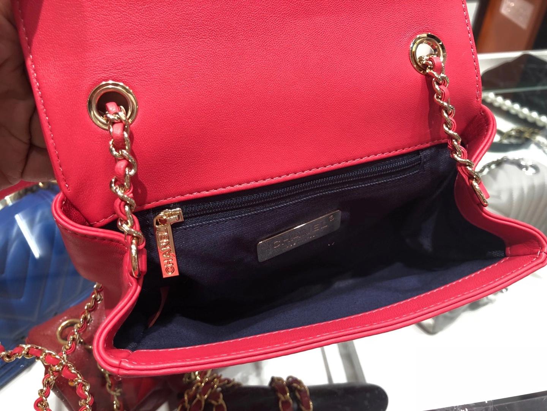 Chanel(香奈儿)小挎包 红色 五金链条包