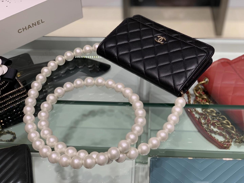 Chanel(香奈儿)2020 珍珠链条 woc 黑色 可爱 百搭