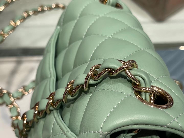Chanel(香奈儿)Ohanel CF 链条包 牛油果绿 金链 金扣 17cm