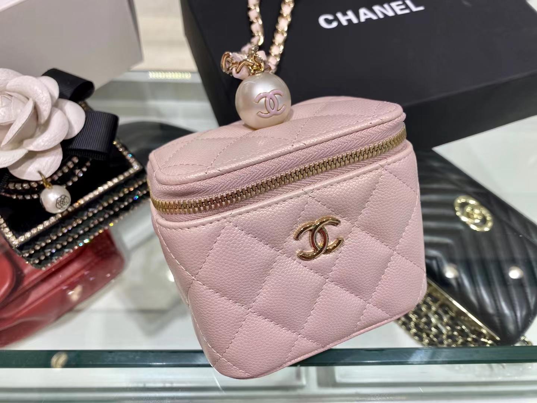 Chanel(香奈儿)2021 新款 一颗珍珠手拎包 奶昔粉 可盐可甜