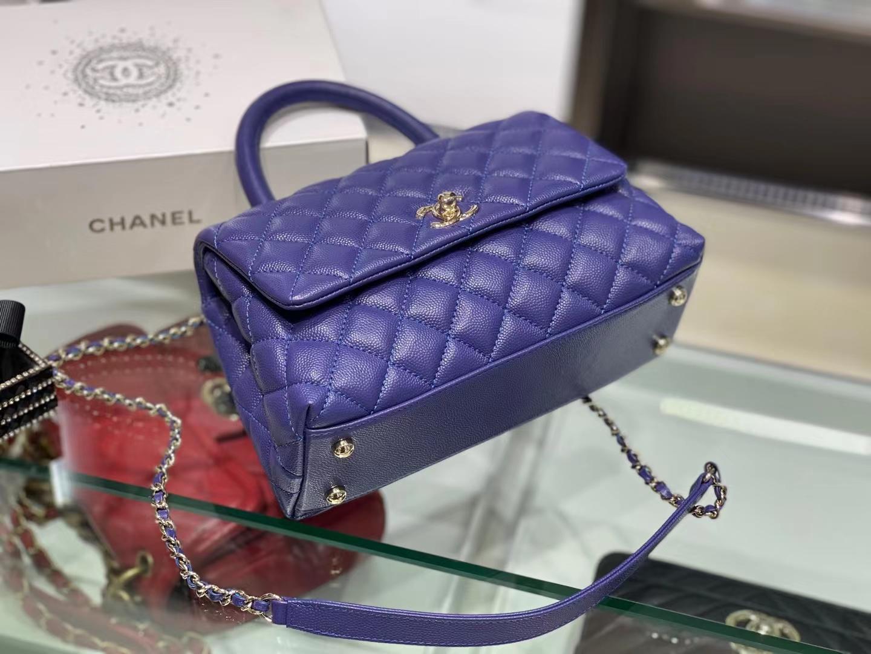Chanel(香奈儿)𝒄𝒐𝒄𝒐𝒉𝒂𝒏𝒅𝒍 小号 梦幻紫 金链金扣 24cm