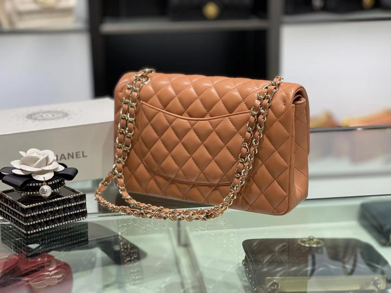Chanel(香奈儿)Ohanel CF 链条包 棕黄色 金链金扣 25cm