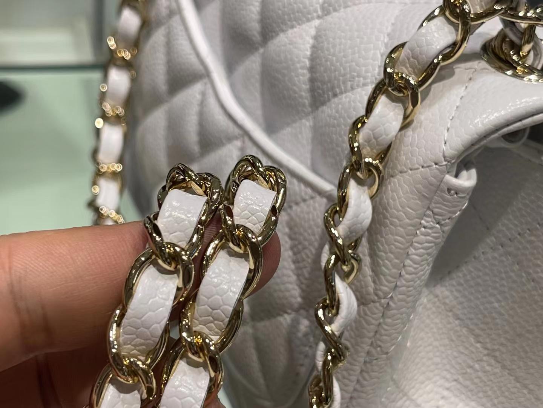 Chanel(香奈儿)Ohanel cf 方胖子 纯白色 金扣